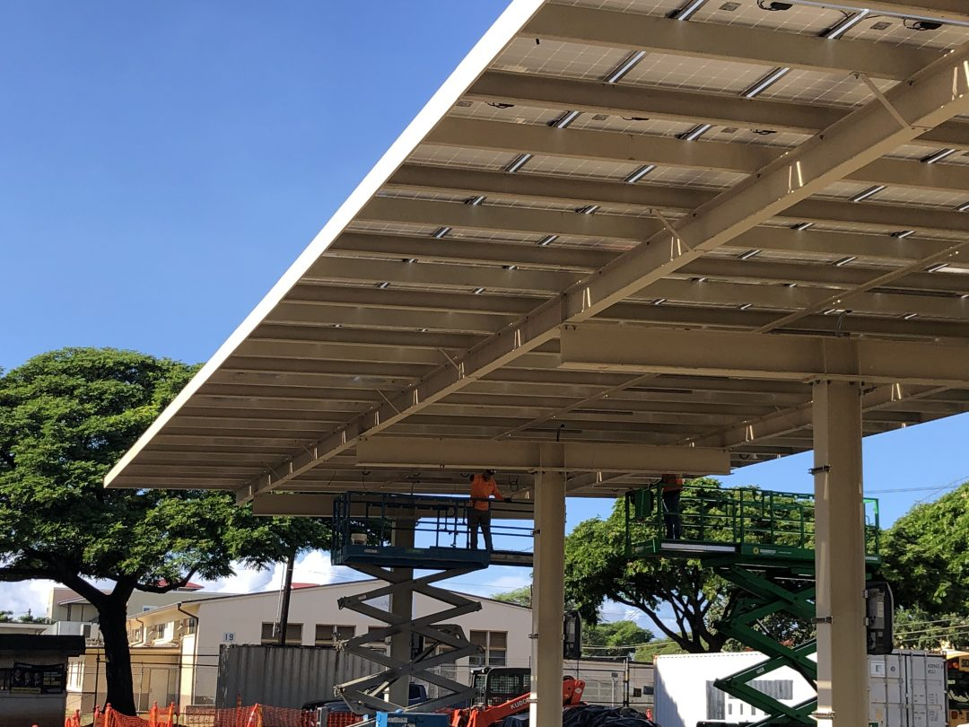 installing solar panels at DoD